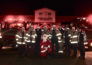 Tulalip Bay FD holds Santa Run - December 13, 2017