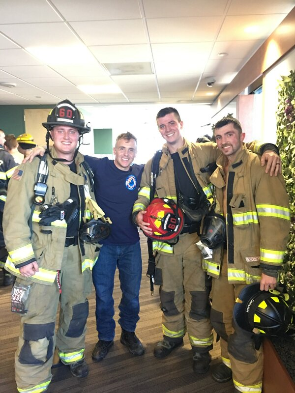 fire fighters after the climb